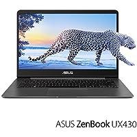 ASUS ZenBook UX430UA-DH74 Thin and light Ultrabook 14 FHD Laptop PC (Intel 8th Gen i7 Quad Core, 16GB RAM, 512GB SSD, 14 inch Full HD 1920 x 1080 Display, WiFi, Bluetooth, Win 10 Pro) Quartz Grey