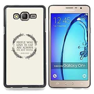 """For Samsung Galaxy On7 O7 Case , Amor Cita Alimentos Comer gris de la guirnalda"""" - Diseño Patrón Teléfono Caso Cubierta Case Bumper Duro Protección Case Cover Funda"""