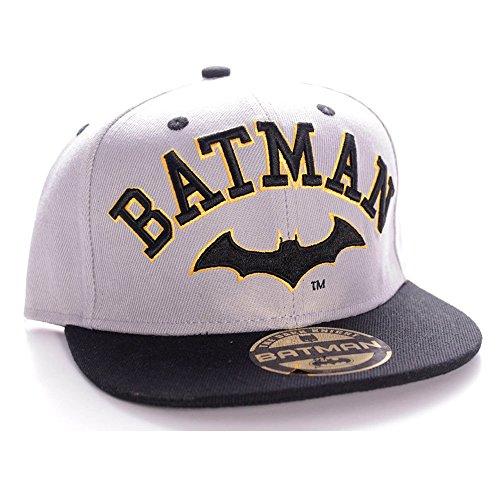 Batman Old Logo Snapback Cap Gris/Negro gris/negro