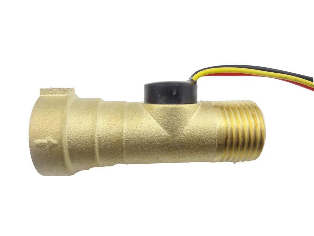 MISOL 1 pcs of Electronic Flow Sensor Electronic Flow Meter 1-30L/M with Female and Male Connection/Sensore di flusso elettronico Misuratore di portata elettronico