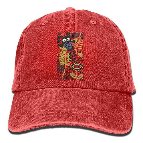 Hat Owl Flowers Leaf Denim Skull Cap Cowboy Cowgirl Sport Hats for Men Women