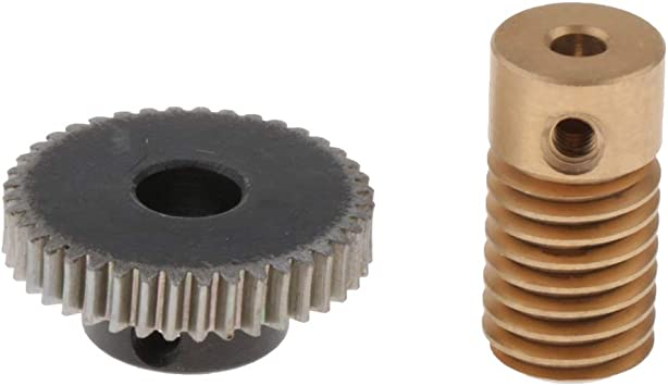 Gear Shaft Hole 3.175-6mm 1:40 Reduction Ratio Gear Shiwaki 0.5 Modulus Worm Wheel Agujero 3.175 mm