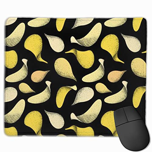 Delicious Potato Chips Mouse Pad with Stitched Edge, Premium Non-Slip Rubber Gaming Mouse Pad for Laptop & PC, 11.8