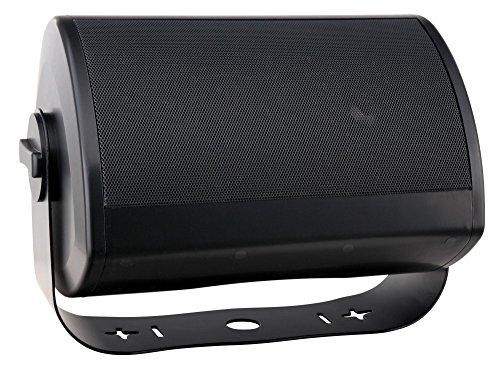 Pronomic OLS-10 BK DJ PA Outdoor-Lautsprecher für Garten/Terrasse/Restaurant (100 Watt, Schutzart IP56, 8 Ohm, 13,2 cm (5,2 Zoll) Woofer, Planar Bass Radiator) schwarz