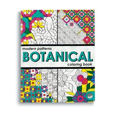 MindWare - Modern Patterns Botanical Coloring Book - 24 Unique Puzzles - Teaches Creativity and Fosters Imagination
