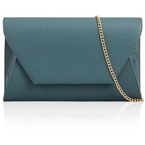 Evening Croc Women Uk Envelope Ocean Xardi Prom Clutch Animal Ladies Leather London Faux Print Blue Bags C5qRxPgw