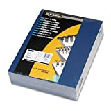Fellowes® - Linen Texture Binding System Covers, 11 x 8-1/2, Navy, 200/Pack - Sold As 1 Pack - Adds a professional look and feel to any document.