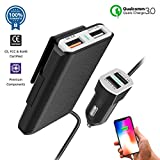 Cheap Multi-Port QC3.0 USB Car Charger Adapter compatible for iPhone XS/Max/XR/X/8/7/Plus, iPad Pro/Air/mini, Samsung Galaxy S9/8/7/Note, LG, Motorola and More| Cigarette Lighter Charge