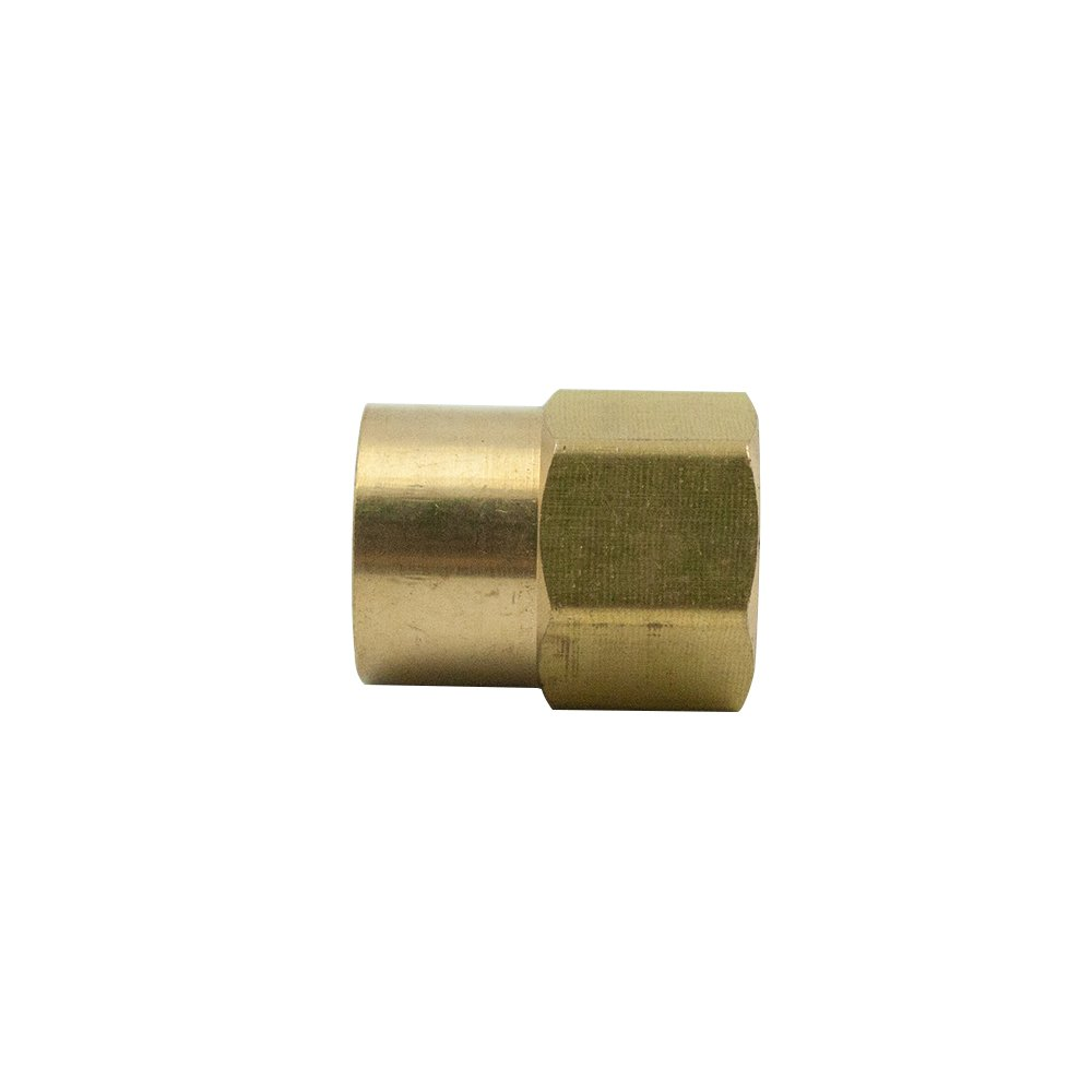 Convert Tube to NPT Female Pipe Adapter Pack of 1 Vis Brass Inverted Flare Tube Fitting 1//2 OD x 3//8 NPT Female