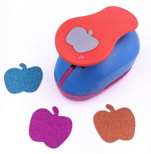 TECH-P Creative Life 2-Inch Paper Craft Punch,card Scrapbooking Engraving Kid Cut DIY Handmade Hole Puncher.-Fruit Apple