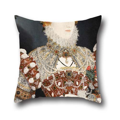 Oil Painting Nicholas Hilliard (called) - Portrait Of Queen Elizabeth I Pillow Cases ,best For Kitchen,play Room,gf,outdoor,couples,car Seat 18 X 18 Inches / 45 By 45 Cm(twin (Halloween Makeup Techniques)