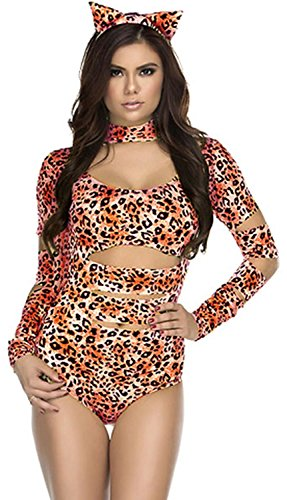 Old Hollywood Halloween Costume Ideas (IF FEEL Womens Sexy Halloween Masquerade Cosplay Animal Costume (One size, LC8806))