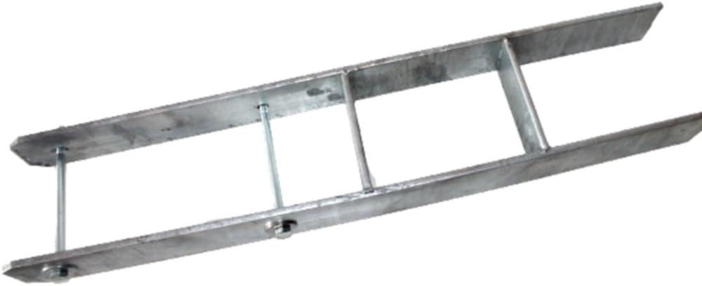 4 Stück H-anker 101MM Pfostenträger Verzinkter Pfostenträger Holzpfosten Zäune