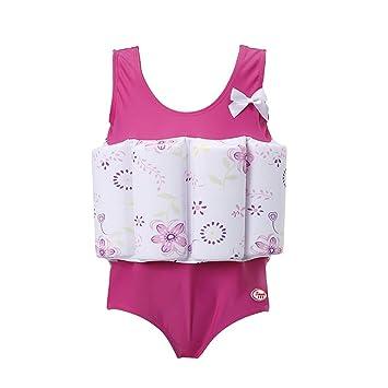 VORCOOL Buoyancy Swimsuit, Traje de baño de una Pieza para niños Vestido de patrón Floral