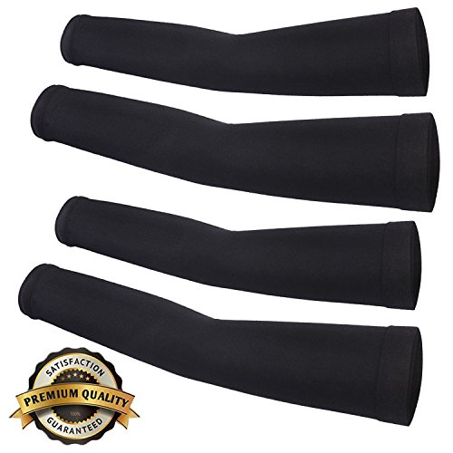 Compression Women Running Sport Arm Sleeve 99% UV Protection, 2 Pair
