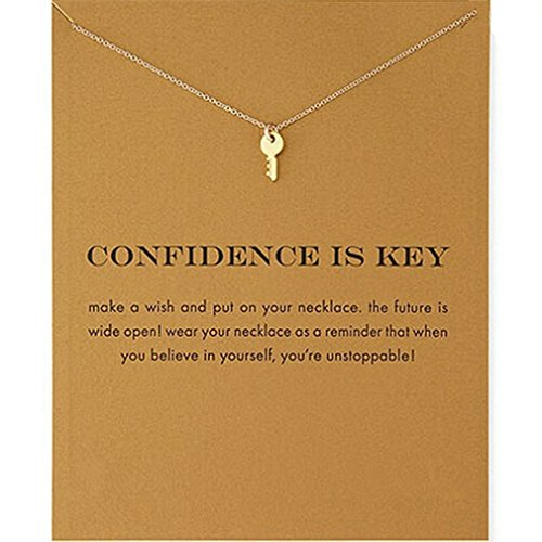 Myhouse Women Female Necklace Chain Key Shape Pendant Gold Plated Clavicle Chain
