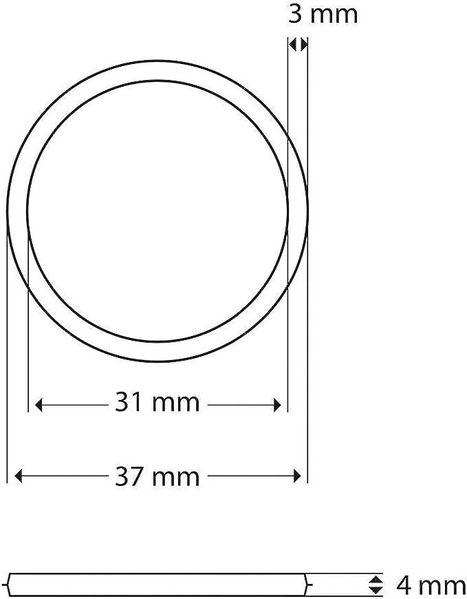 Set de 3 juntas de sellado universales, junta de repuesto, retén, junta de goma Ø 31/37 mm para tapones metálicos de juegos de desagüe a presión (válvula emergente) de lavabos: Amazon.es: Bricolaje