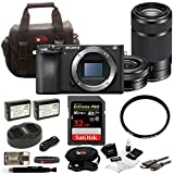 Sony a6500 Mirrorless Camera w/ 16-50mm + 55-210mm Lens + 32GB SDHC Accessory Bundle