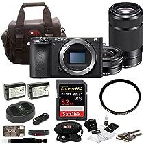 Sony a6500 Mirrorless Camera w/ 16-50mm + 55-210mm Lens + 32GB SDHC Accessory Bundle