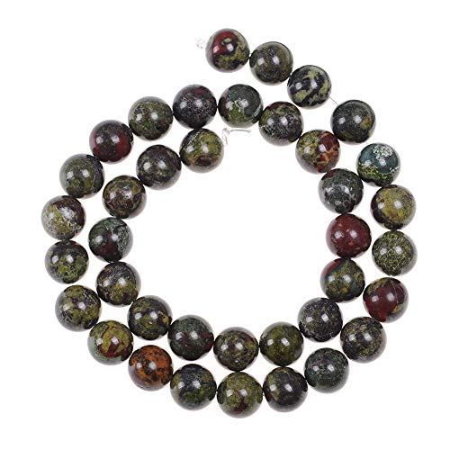 (60pcs 6mm Dragon's Blood Jasper Beads for Jewelry Making Adults Bracelets Necklace Natural Stone Beads for Handmade Jewellry)