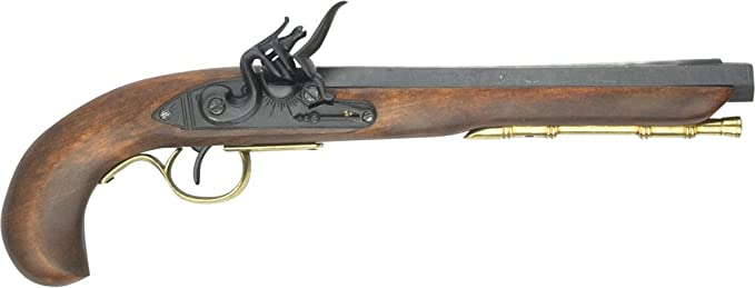 Denix Kentucky Flintlock Pistol, Brass