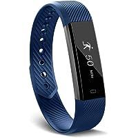 GOPG Fitness Tracker, Rastreador de Actividad a Prueba de Agua con Monitor de Sueño, Pulsera Inteligente Podómetro Deportivo para Niños, Contador de Calorías, Damas y Hombres