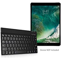 iPad Pro 10.5 (2017) Keyboard, BoxWave [SlimKeys Bluetooth Keyboard] Portable Keyboard with Integrated Commands for Apple iPad Pro 10.5 (2017) - Jet Black