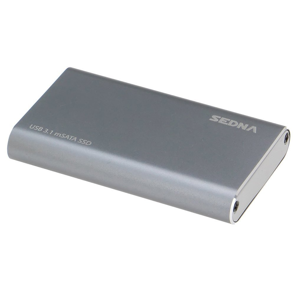 SEDNA - USB3.1 (GEN II) mSATA SSD (10Gbps) External Enclosure (Type C connector ) , Super slim size. ( SSD not included ) by Sedna