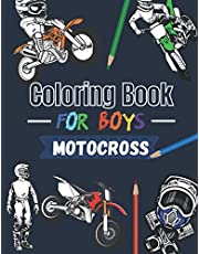 Coloring book for boys Motocross: Over 30 coloring pages to color and enjoy… | Dirtbike & Motorcycle for kids aged 6 – 14