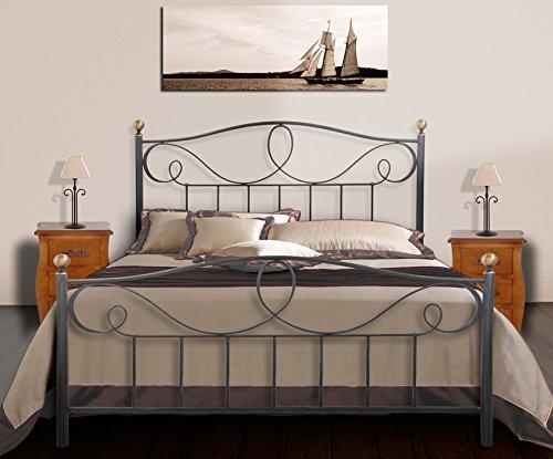 Elegantes Bett aus Schmiedeeisen : Kollektion MARINA 105x190
