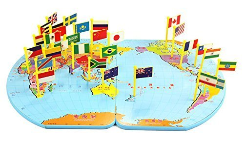 Amazon wisdomtoy wooden world map flag matching puzzle amazon wisdomtoy wooden world map flag matching puzzle geography educational toy gift for kids toys games gumiabroncs Choice Image