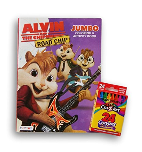 Alvin and the Chipmunks The Road Chip Jumbo Coloring and Activity Book with Crayons
