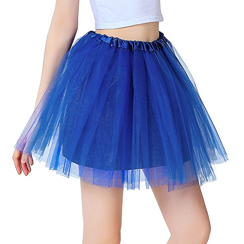 Balletti colori Ragazza Blu Elastic a 8 Dress Mini Organza Donna 80s InnoBase Danza Gonna Adulto Strati Tutu OUZZwt