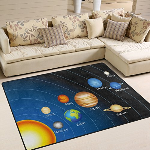 ALAZA Solar System Space Planet Area Rug Rugs Mat for Living Room Bedroom 7'x5' by ALAZA