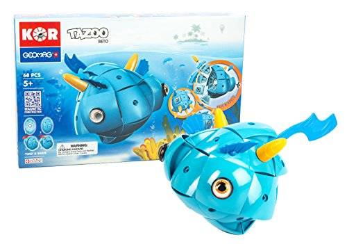 Geomag Kor TAZOO Beto Fish – 68 Piece Creative Magnet Transf...