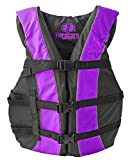High Visibility Coast Guard Approved Life Jackets for the Whole Family (Super Large Purple)
