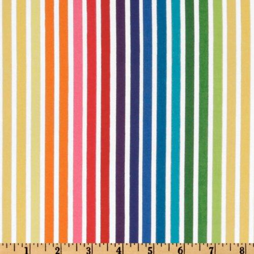 (Robert Kaufman Remix Stripes Bright Fabric by The Yard,)