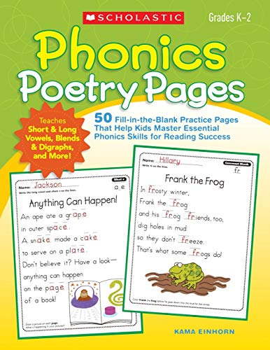 Phonics Poetry Pages: 50 Fill-in-the-Blank Practice Pages That Help Kids Master Essential Phonics Skills for Reading Success]()
