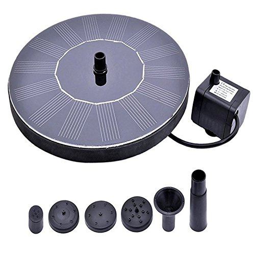 Solar Power Pump Bird Bath Fountain Solar Panel Kit Water Pump for Garden Patio Watering ruihe