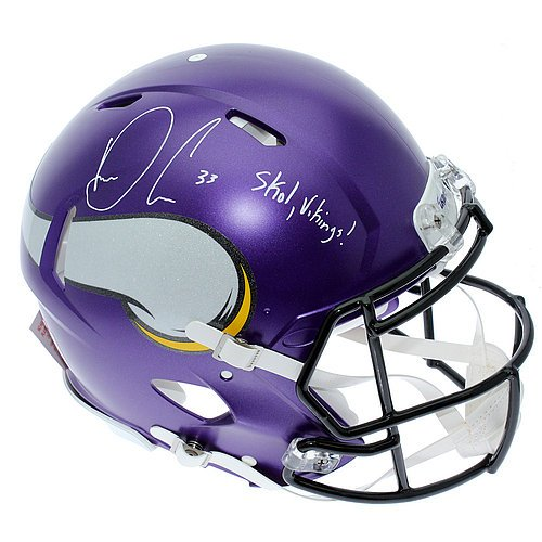 Dalvin Cook Autographed Minnesota Vikings Full Size Proline Helmet with Skol Vikings Inscription - JSA (Autographed Authentic Pro Line Helmet)