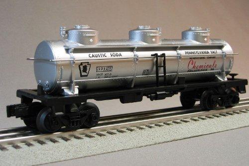 LIONEL PRR THREE DOME TANKER PENNSYLVANIA SALT CO 4727 train 6-30233 tank car 6-29789