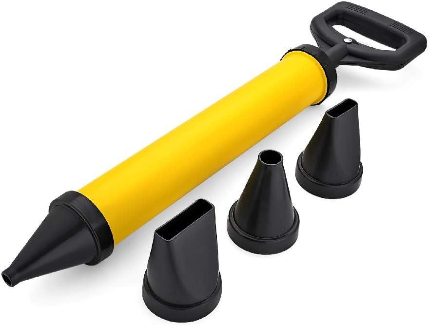 EXLECO Pistola de Calafateo de Cemento Pistola de Enlechado para Cemento para Pulverizador Pistola de Lechada de Cemento con 4 Diferente Boquillas