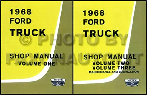 Amazon.com: 1968 FORD TRUCK & PICKUP FACTORY REPAIR SHOP ... on