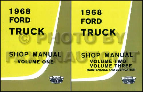 Brake F100 Ford Pickup (1968 FORD TRUCK & PICKUP FACTORY REPAIR SHOP & SERVICE 2 BOOK SET OF 3 MANUALS - INCLUDES F100 F150 F250 F350 F500 F600 TO F7000, C-Series, W-Series, P-Series, WT-Series, L-Series, LN-series, N-Series, HT-Series 68)