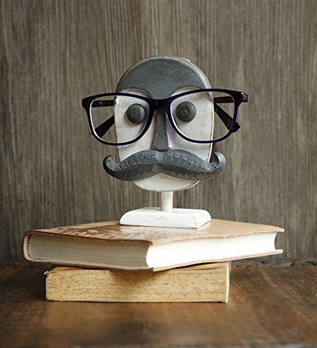 Mothers Day Gift Wooden Spectacle Holder Eyeglass Holder Handmade Moustache Display Stand...
