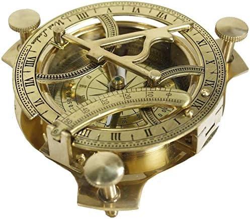 Roorkee Mart 3 Sundial Compass Solid Brass Sun Dial