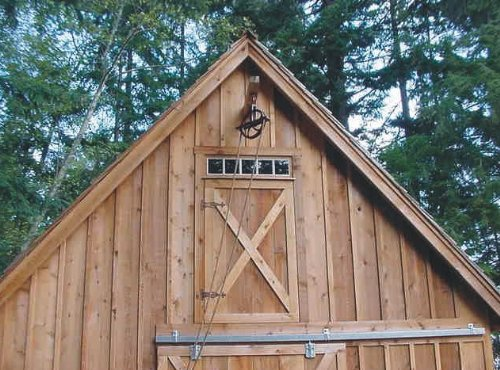 Candlewood Mini-Barn, Shed, Garage and Workshop - Pole Barn Plans by American Wood Pole Barn Plans (Image #5)