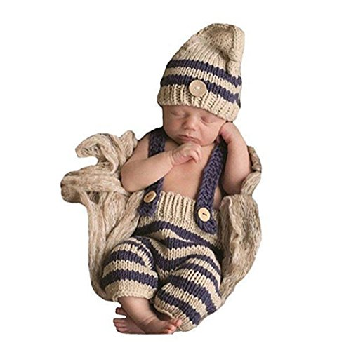 Newborn Baby Girls Boys Crochet Knit Costume Photo Photography Prop (Freesize, (Toddler Polar Bear Costumes)