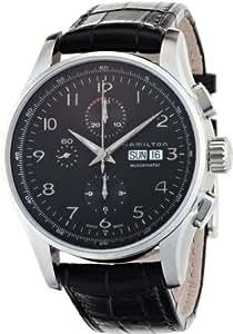 Hamilton - Reloj hombre, american classic jazzmaster maestro auto chrono 45mm h32716839, color negro