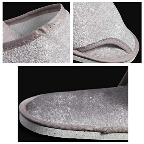 20 Sauna 28 Pairs Dimensioni Monouso Gray Unisex 40 Spessore 6mm Uso 110 Hotel Pantofole 280 Per Domestico 11cm Cm Suola 6 Colore SqfxYwa0Zn